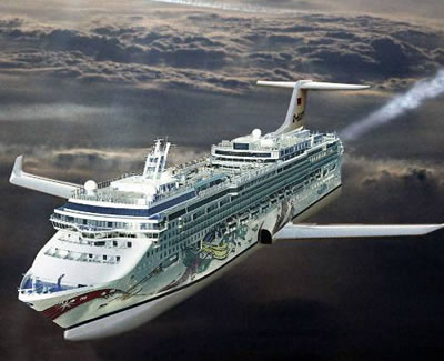 Strange Dreams CruiseMiss Cruise Blog - Flying cruise ship