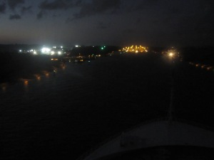 Panama-Canal-Night-Time-Approach