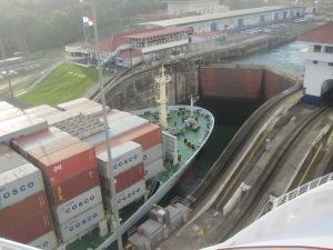 Container-Ship-Panama-Canal-Gatun-Locks