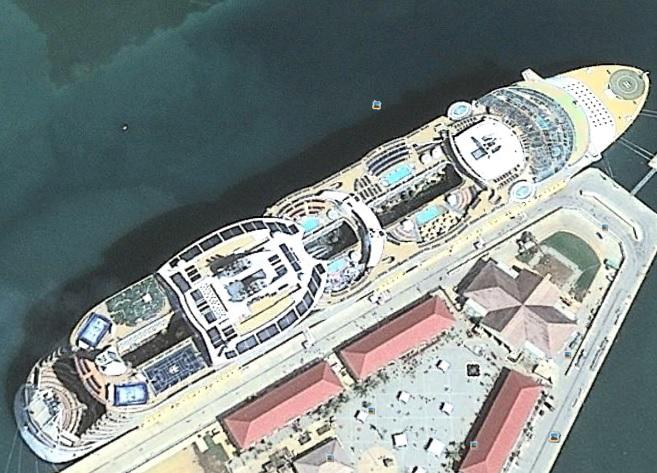 Birds Eye Cruise Ship View CruiseMiss Cruise Blog - Cruise ship google earth