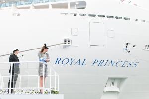 Princess-Cruises-Royal-Princess-Naming -Ceromony