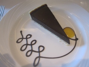 Dark Valrhona Chocolate and Grand Marnier Tart