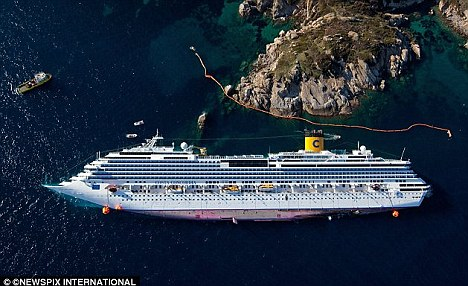 Costa Concordia Could Be Upright By Monday Cruisemiss