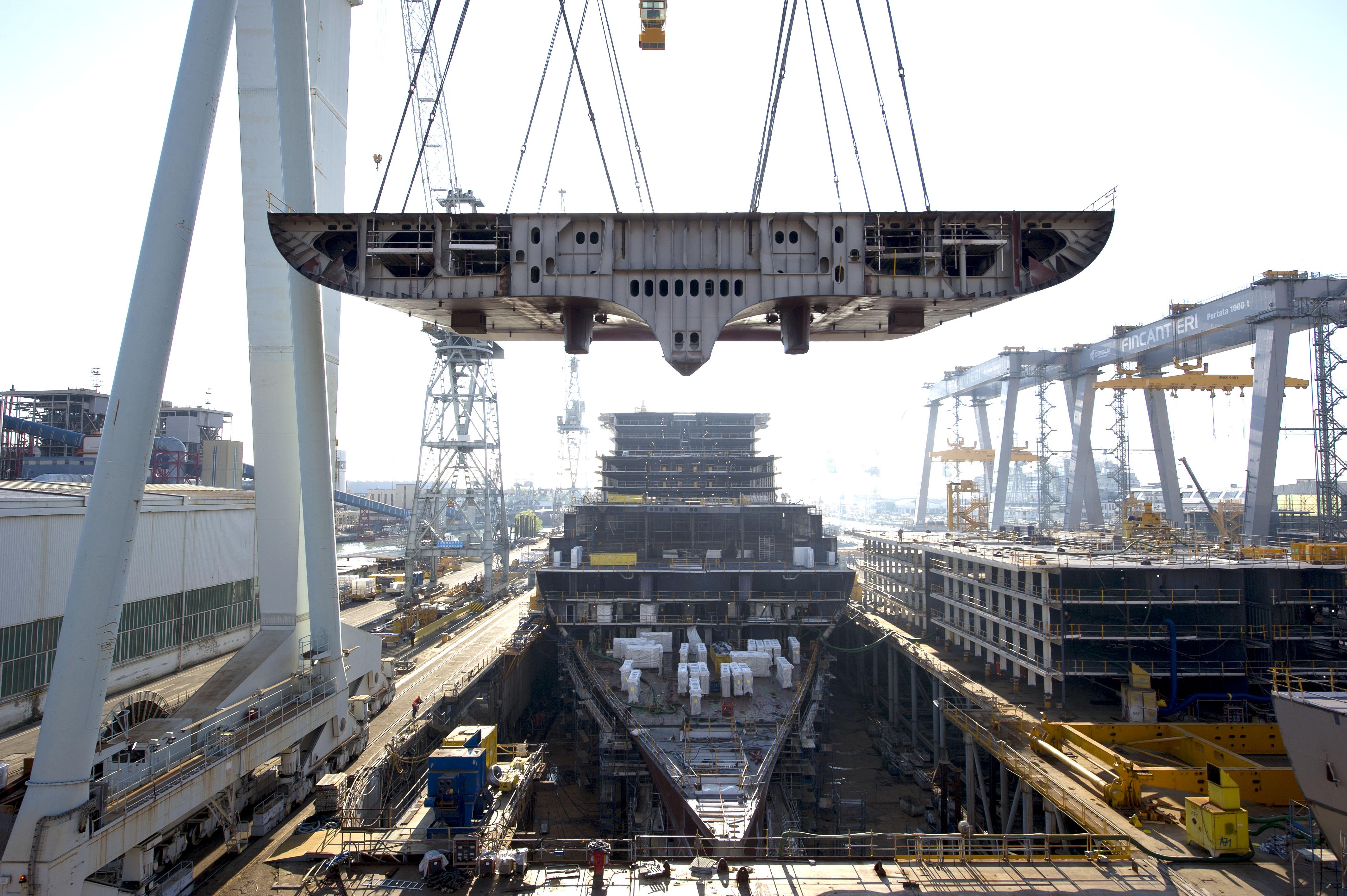 Building Britannia Britainu2019s Largest Cruise Ship U2013 Progress Photo Blog | CruiseMiss Cruise Blog