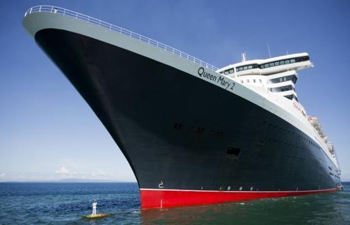 Queen Mary 2 Captain Oprey Bulbous Bow