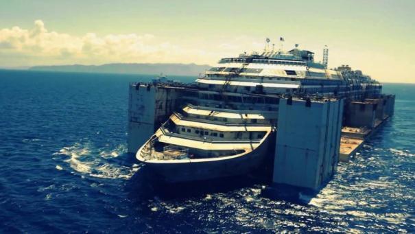 Costa Concordia Drone Footage Still