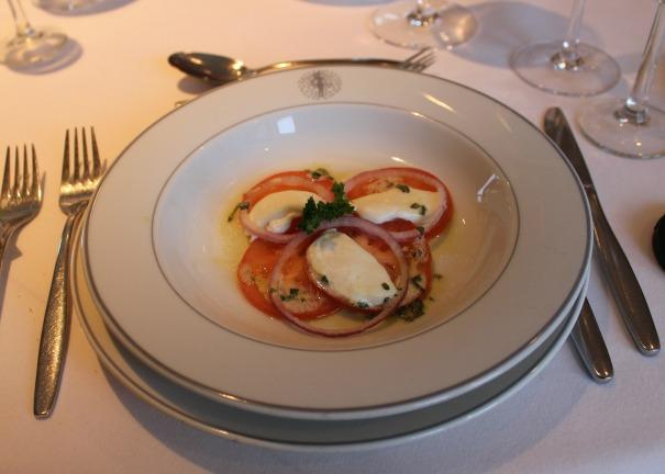 Mozzarella, Tomato and red onion salad