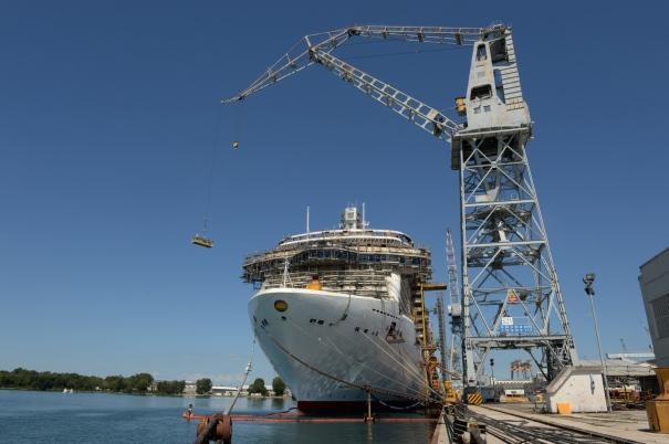 P&O Cruises Britannia Shipyard