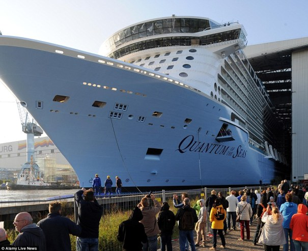 Quantum of the Seas float out