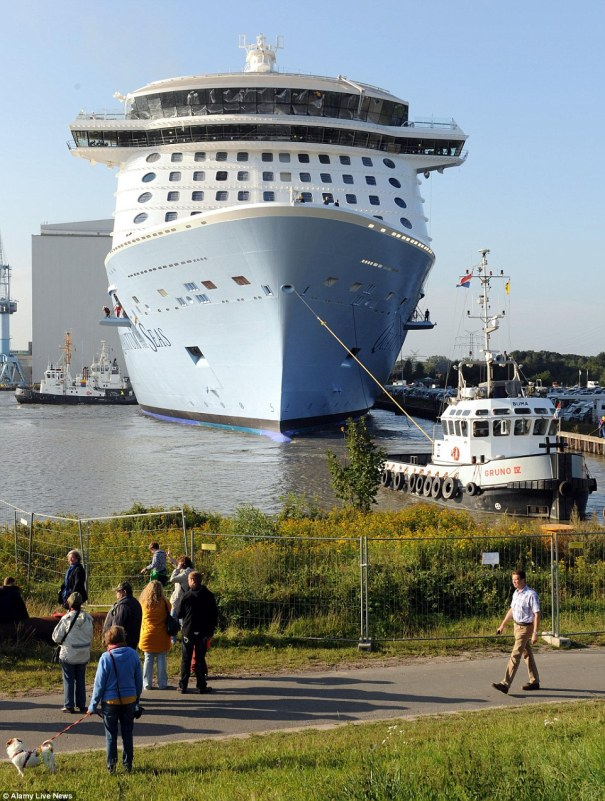 Quantum of the Seas Float Out  Germany Meyer Werft