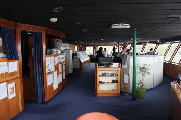 Fred Olsen Cruise Lines Braemar Bridge and Captain