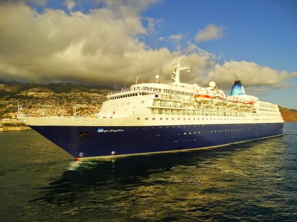 Saga Sapphire in Funchal - Image credit: Sergio Ferreira