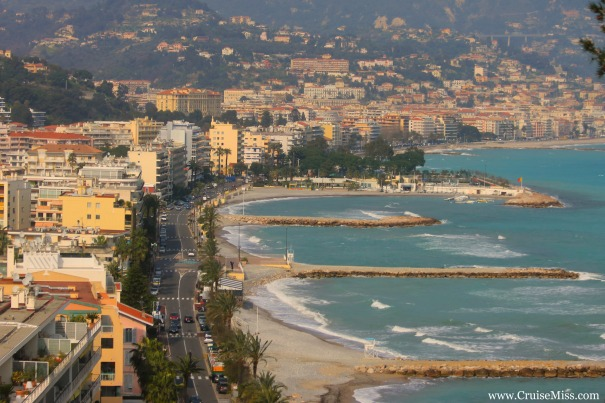 Menton, one of the last towns in France before you reach the Italian border.