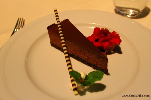 Chocolate cake - I was very good, I only had a few desserts over the 16-nights