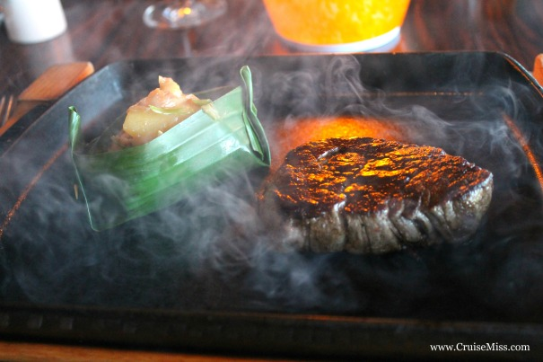 Sizzling beef fillet with Balinese sauce (before the sauce is added) - East to West