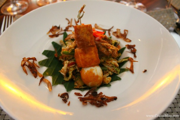 Gado Gado salad - Indonesian chicken and cabbage with a peanut sauce - East to West