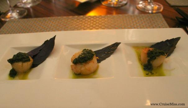 Atlantic seared scallops with Thai basil