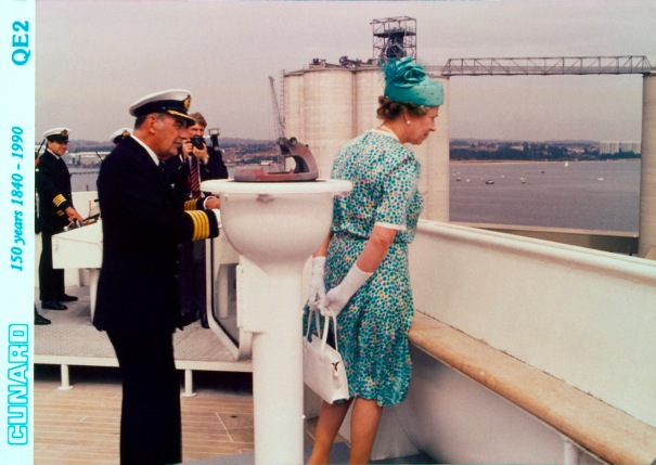 HM The Queen and HRH The Duke of Edinburgh on QE2
