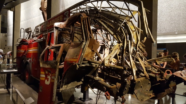 This fire truck was recovered after 9/11