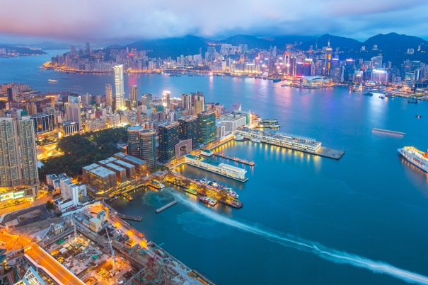 Victoria-Harbor-Hong-Kong city skyline