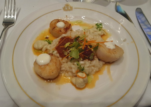 Scallops with artichoke puree and tomato confit - CanyonRanch menu