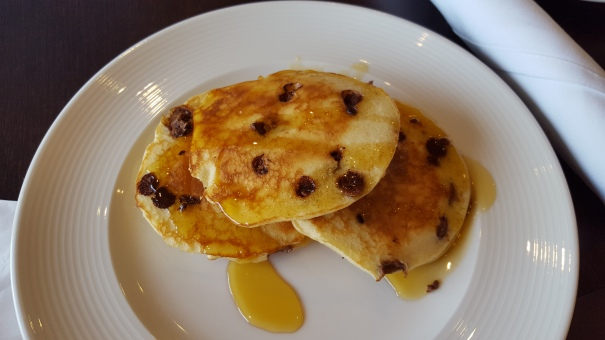 Chocolate chip pancakes from the Kings Court Buffet - they were SO good!