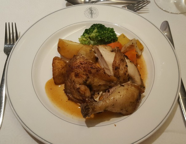 Garlic and herb roasted chicken with roast potatoes - Main Dining Room