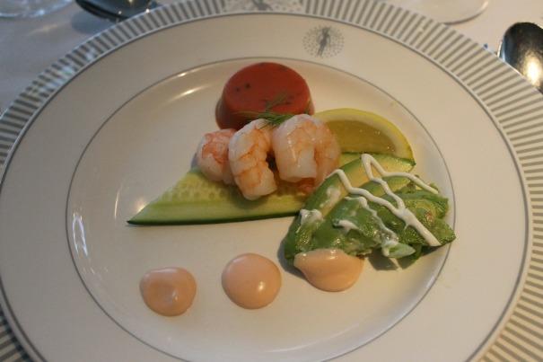 Prawn and Avocado salad - Main Dining Room