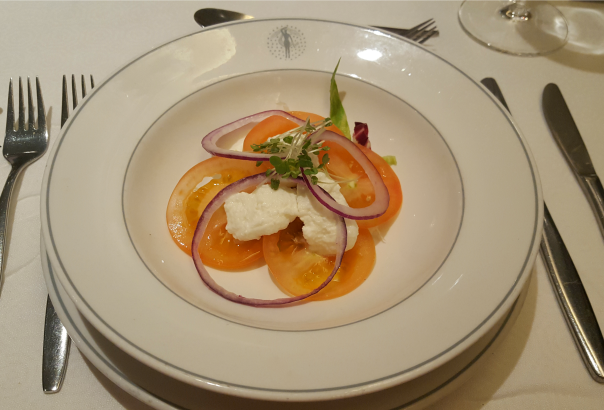 Tomato, mozzarella and onion salad - Main Dining Room