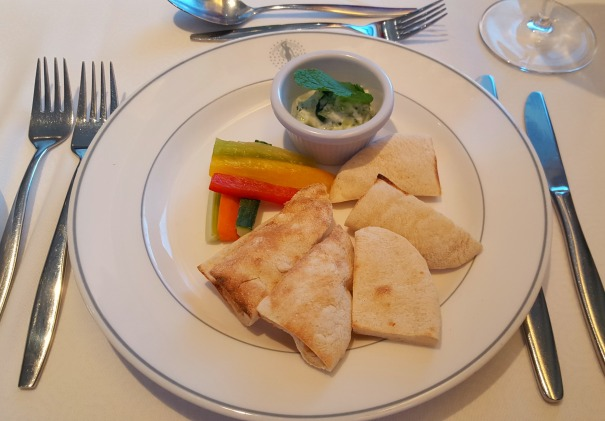 Tzatziki dip with extra pitta bread - Main Dining Room