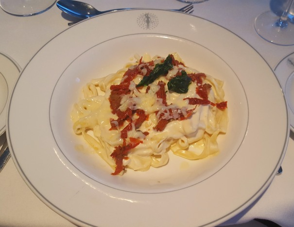 Sun dried tomato and Parmesan Carbonara - Main Dining Room