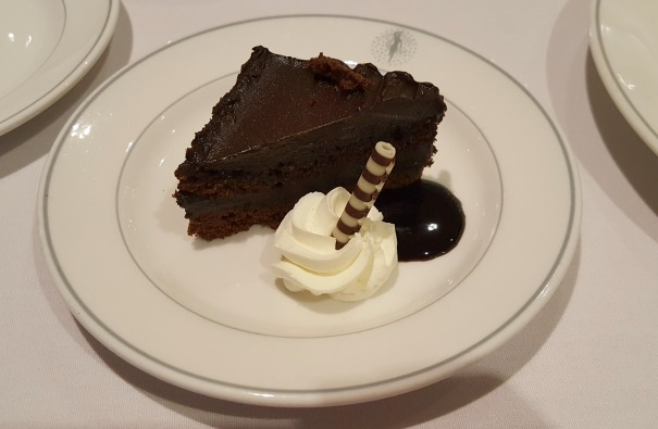 Chocolate cake (the best at sea!) - The Palms (buffet)