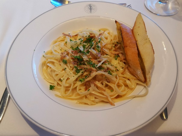 Fettucini pasta in a creamy sauce - Main Dining Room