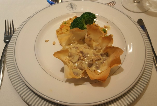 Filo basked filled with mushroom ragout - Main Dining Room