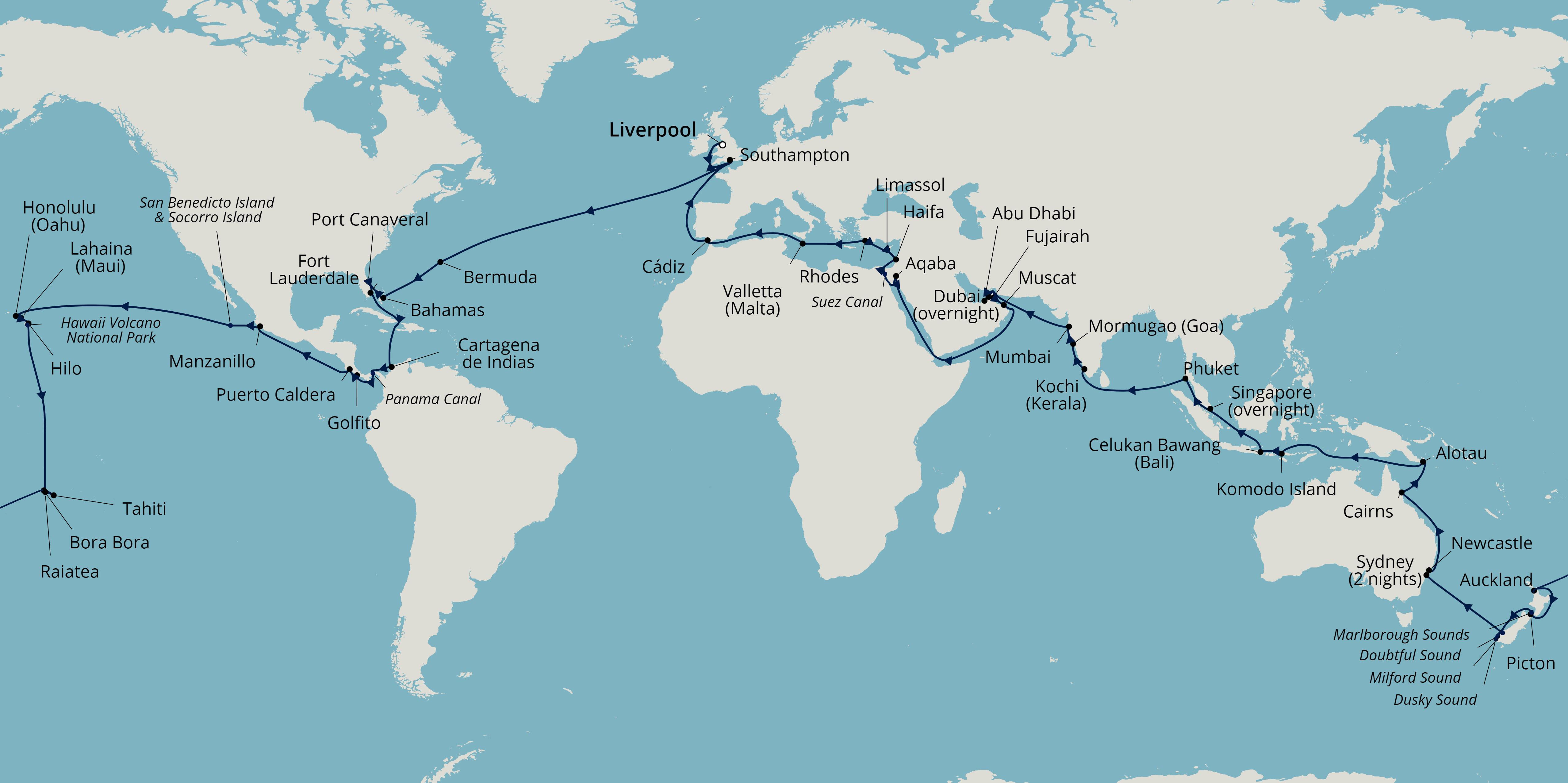 Borealis 2022 world cruise fred. olsen